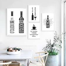 black and white prints for kitchen cheeky wine quotes minimalist wall black and white canvas prints for kitchen restaurant wine bar wall decor