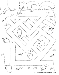 coloring squirrel maze create a printout or activity