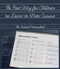the best way for children to learn to write cursive free