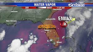 Frontal Boundary Map Disorganized Tropical Depression Emily Headed Out To Sea In The