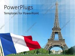 Paris Flag Powerpoint Template Flag And Eiffel Tower In Paris 12952