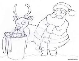 santa feeding reindeer coloring pages hellokids