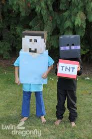 minecraft costumes minecraft steve and enderman costumes dragonfly designs
