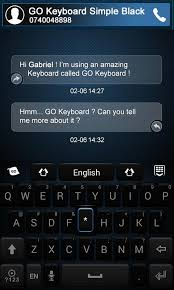go keyboard theme apk go keyboard simple black theme android apps on play
