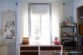 White Curtains With Blue Trim Diy Key Trim Curtains