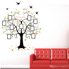 Heart Wall Stickers For Bedrooms Diy Modern Photo Frame Birds Love Heart Shape Tree Wall Stickers