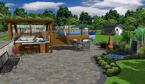 free 3d landscape design software with small pond mini bar dugas