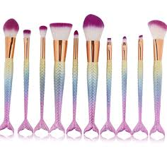 sirena queen of the sea makeup brushes set 6pcs flawless
