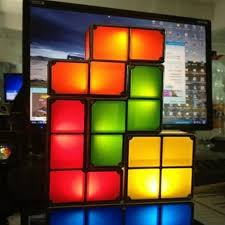 Diy Led Desk L Usb Tetris Stackable Led Light Intended For Attractive House Desk
