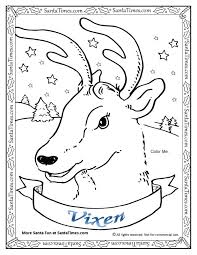 wild christmas reindeer coloring pages pictures free red