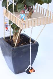 kid craft tiny treehouses treehouse miniature trees and craft