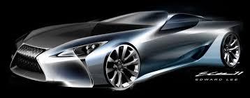 lexus lf lc gt vision lexus lf lc concept design sketch by edward lee render
