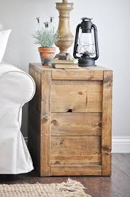 Farmhouse Side Table Crate Side Tables Glass Jar