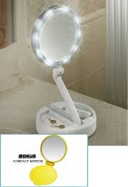 Portable Lighting For Makeup Artists Amazon Com Lighted Bright Leds Foldaway Portable Vanity Mirror