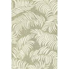 5ft Round Rug by Shop Tropez Palm Leaves Sage Outdoor Rug 3ft 6in X 5ft 6in