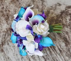 Purple Lily Flower Floramatique Natural Touch Tiffany Purple Calla Lilies Bouquet