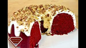 best red velvet pound cake w whipped cream cheese frosting