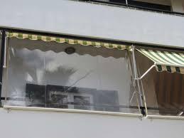 durchsichtiges folienrollo für terrassen als - Balkon Wetterschutz