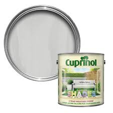 Diy L Shade Cuprinol Garden Shades White Matt Wood Paint 2 5l Garden