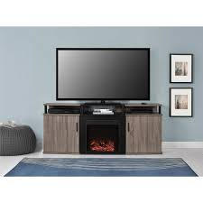 Tv Tables Wood Modern Ameriwood Home Carson Electric Fireplace Tv Console For Tvs Up To