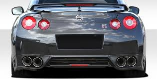 nissan gtr with your coin money duraflex oem facelift conversion rear diffuser body kit fits 09 15