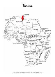 tunisia on africa map tunisia on map of africa
