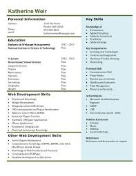 web developer resume free resume templates microsoft word