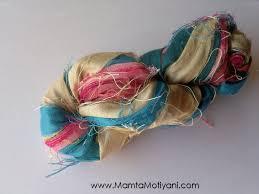 sari silk ribbon surf n sand sari silk ribbon yarn recycled and fair trade