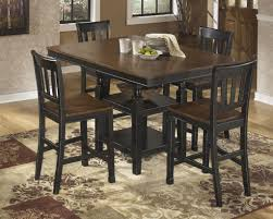 Hank Cocas by Owingsville Extension Table And Four Barstools By Ashley Furniture