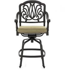 Counter Height Swivel Bar Stool Rosedown Cast Aluminum Patio Counter Height Swivel Bar Stool By