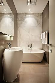 bathroom design simple ideas with brick wall marble modern