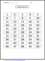 11 best images of kindergarten worksheets number chart printable
