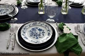 blue danube table setting heidikins cooks