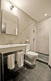Staged Bathroom Pictures by Ceramic Tile Floor In Modern Bathroom Marble Tile Shower Wall