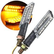 pair amber led turn signal motorcycle light lamp indicator light