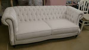 White Tufted Loveseat Sofas