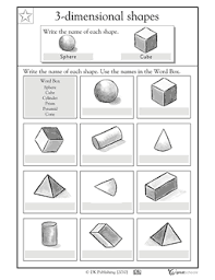 here u0027s a page where students are asked to write the name of 3 d