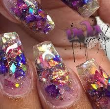 38 clear glitter nail designs picsrelevant