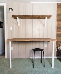 Wooden Shelf Brackets Diy by Simple Diy Wall Desk Shelf U0026 Brackets For Under 23 Jenna