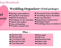 ultimate wedding planner wedding binder etsy