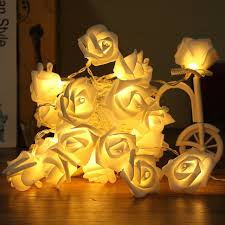 battery operated led string lights waterproof 20 led fairy non waterproof colorful roses flower led string lights