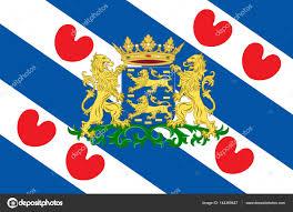 Flag Of Netherlands Flag Of Friesland Of Netherlands U2014 Stock Photo Dique Bk Ru