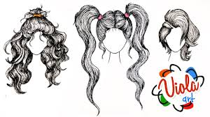 how to draw hairstyles pencil colour drawing tutorial for kids
