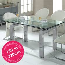 Glass Dining Table With 6 Chairs Charming Glass Extending Dining Table And 6 Chairs D96 On Modern