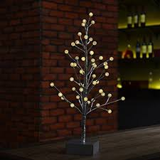 light up tree 60cm snow twig tree with led lights
