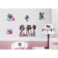 10 in x 18 in glitter snowflakes 47 piece peel and stick wall 10 in x 18 in monster high 37 piece peel and stick