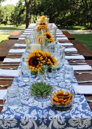 Tablecloth For Patio Table With Umbrella by 50 Outdoor Party Ideas You Should Try Out This Summer