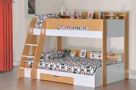 Flair Furnishings Flick Triple Bunk Bed Maple Triple Bunk Beds - Jay be bunk beds