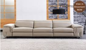 Four Seater Recliner Sofa Forza 4 Seater Eclectric Recliner Sofa Top Grain Leather