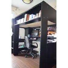 lit mezzanine combiné bureau meuble combiné bureau lit mezzanine noir achat et vente